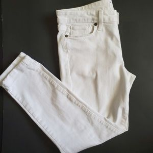 Paige kylie cropped size 30 white.cuffed